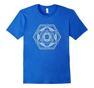 Men's The Official Sacred Geometry Shape T-Shirt Large Royal Blue