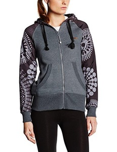 Desigual Women's Sweatshirt Long-Sleeves Pacio grey Dark Gray Size:XS by Desigual