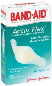 Band-Aid Brand Adhesive Bandages Activ-Flex Regular, 10 Count Box, (Pack Of 2) by Band-Aid