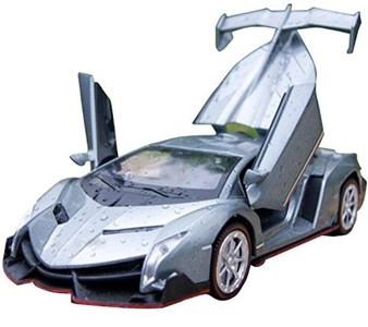 NuoYa001 Grey 1:32 Lamborghini Veneno sports car Diecast Car Model Collection Sound&Light by Car Model