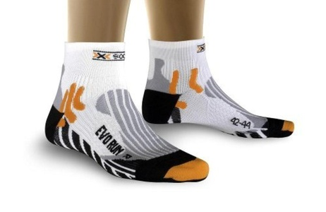 X-Socks Functional Socks Evo Run White white / black Size:4 (EU) by X-Socks
