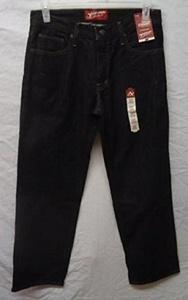Arizona Jean Co. Men's Loose Straight Black Jean 32x30