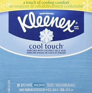 Kleenex Cool Touch Facial Tissue (One Box of 50 Tissues) by Kleenex