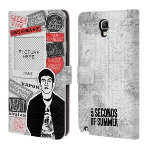 Custom Customized Personalized 5 Seconds Of Summer Calum Song Titles Leather Book Wallet Case Cover For Samsung Galaxy Note 3 Neo