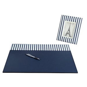 On My Desk Stripes Desk Pad Kit Includes a Matching 4