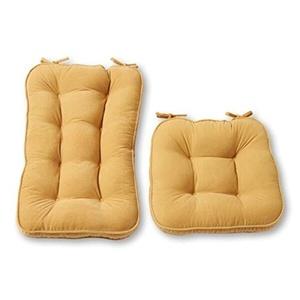Cream Microfiber Reversible Rocking Chair Jumbo-size Cushion Set