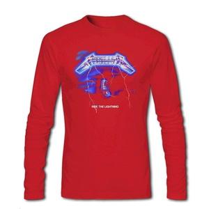 Metallica Ride Lightning for Men Printed Long Sleeve Cotton T-shirt