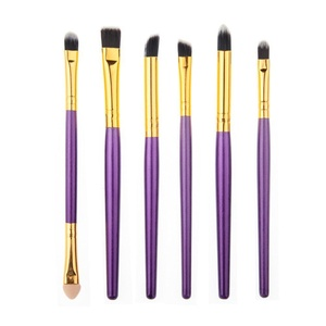 HUBEE 6Pcs Pro Eye Makeup Brushes Cosmetic Eyeliner Shadow Beauty Tools Set
