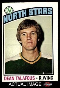 1976 O-Pee-Chee NHL # 103 Dean Talafous North Stars (Hockey Card) Dean's Cards 4 - VG/EX