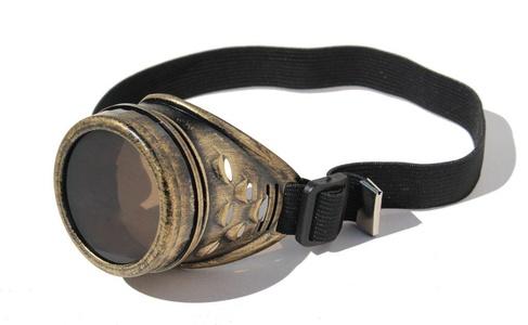 Masada Goods, Steampunk One Eye Goggles Eyepatch, Interchangeable Lens