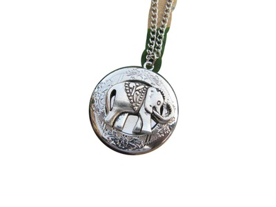 Silver Elephant,Locket,Animal, Locket, Antique style Locket,Elephant Locket,Animal Jewelry
