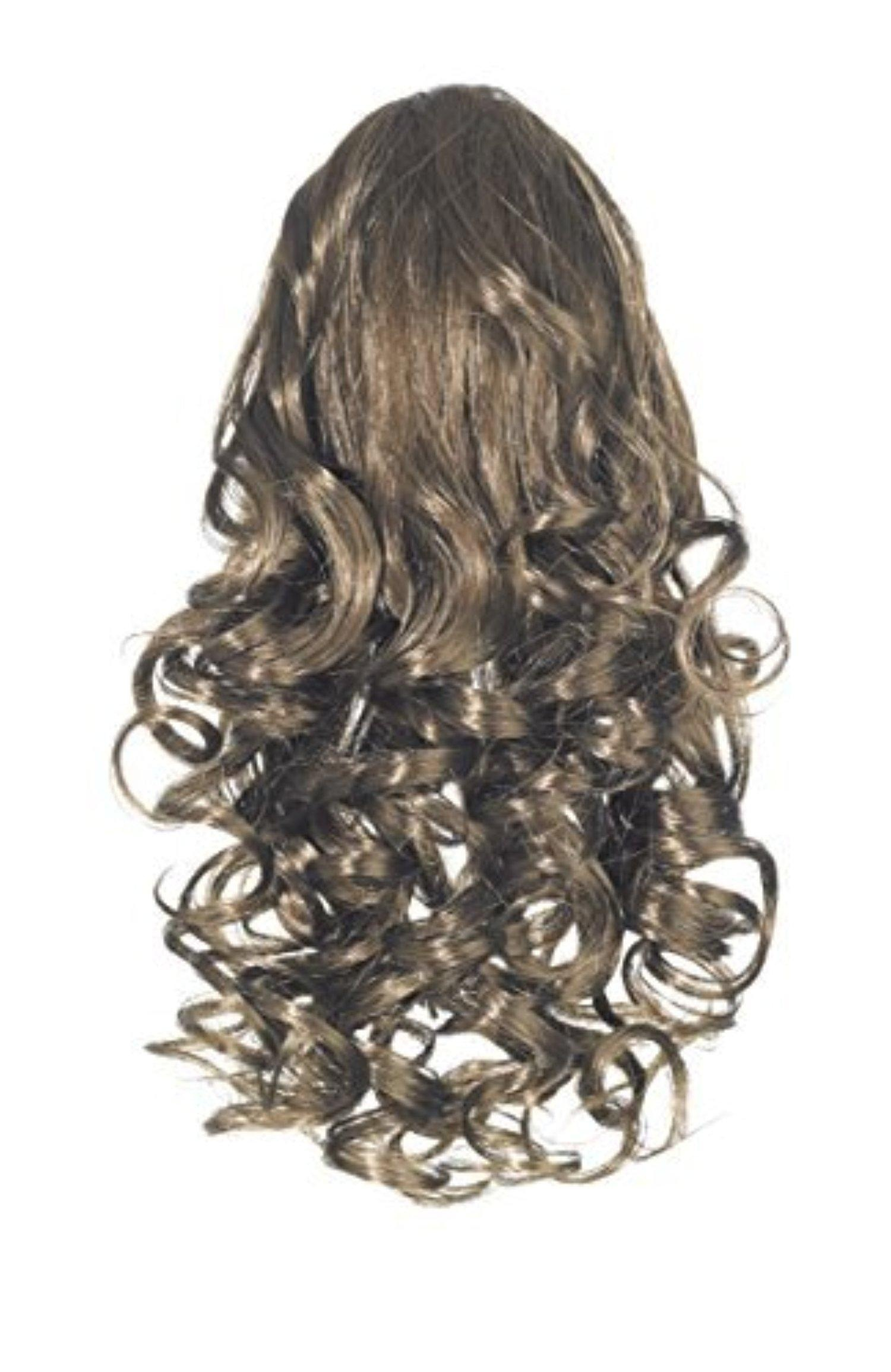 Love Hair Extensions Curly Crocodile Clip Synthetic Hair Ponytail Colour 6 Dark Ash Brown 12 -Inch by Love Hair Extensions