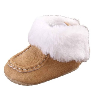 AMA(TM) Toddler Baby Girl Boy Warm Snow Boots Soft Sole Crib Shoes (0~6 Month, Khaki)