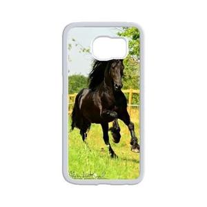 Samsung Galaxy s6 edge plus Case,WXCVBN Rugged White Horse Print Cover Case Skin for Samsung Galaxy s6 edge plus (5.7 inch)
