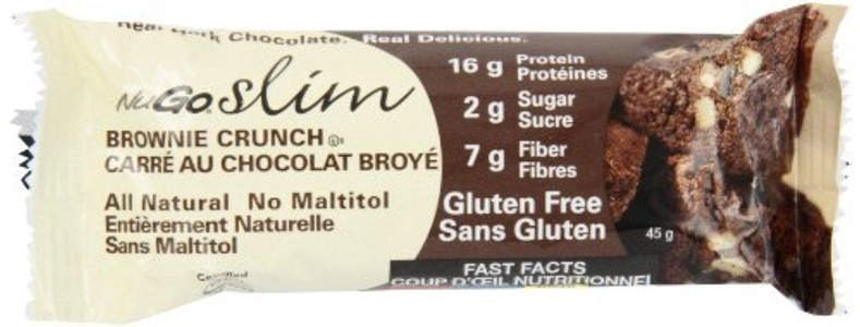 NUGO Chocolate Bar, Brownie Crunch, 1.59 Ounce (Pack of 12) by NuGo