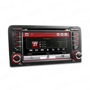 XTRONS 7 Inch HD Digital Touch Screen Car Stereo In-Dash DVD Player with GPS Navigation Dual Channel CANbus Screen Mirroring Function for Audi A3 S3