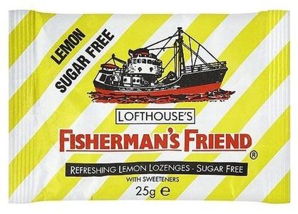 Fisherman's Friend Lozenges Lemon Sugar-Free with Sweeteners 25g by Fishermans Friend