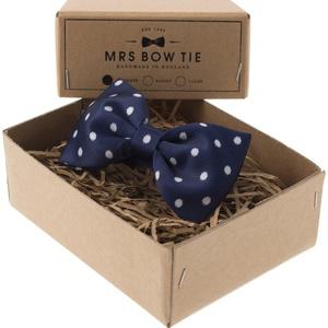 Mrs Bow Tie Broxton Ready-Tied Bow Tie - Navy