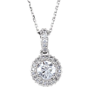 14kt White 1 CTW Diamond 18