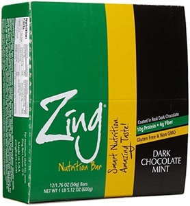 Zing Bars Dark Chocolate Sunflower Mint - 1.76 oz - 12 Pack by Zing Bars