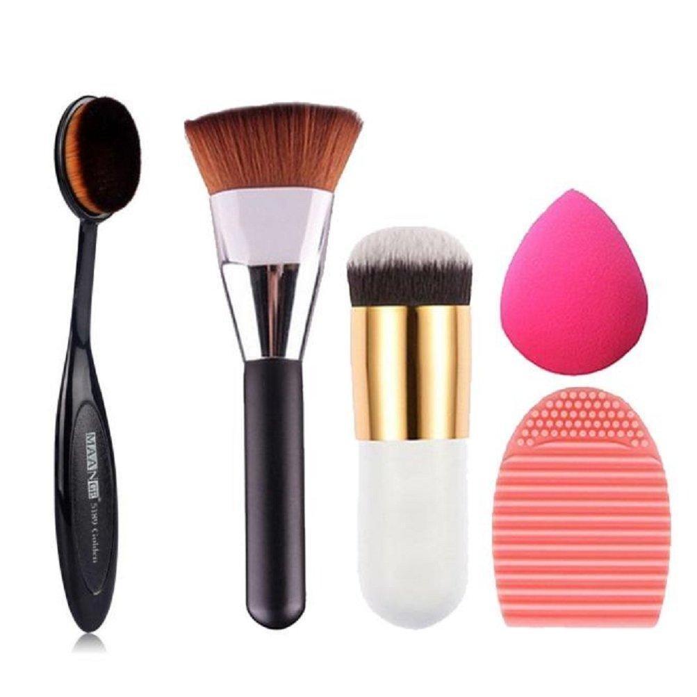 Makeup Brush,Neartime 5pcs Beauty Brushes Sponge Makeup Brush Cleaner Face Brush