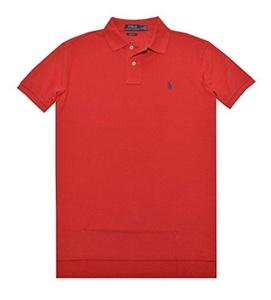 Polo Ralph Lauren Custom Fit Mesh Polo Shirt for Men Red S