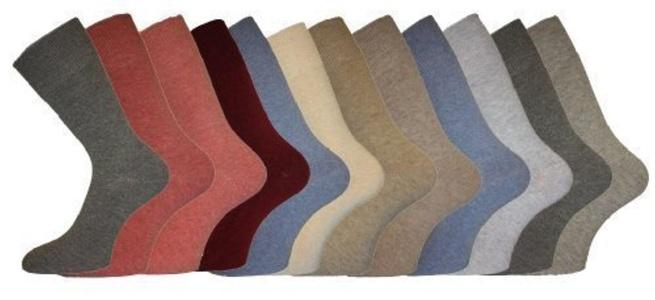 LADIES Cotton LOOSE TOP SOCKS Size 4-6 3-pack Mellange by Socks Uwear