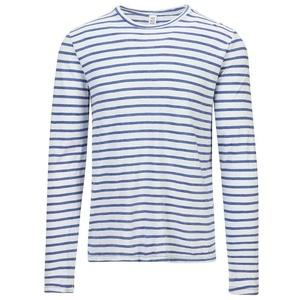 Save Khaki Men's L/S Indigo Sulf Stripe Tee SK015-SS SZ M
