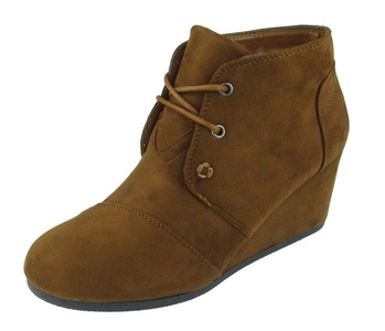 Pierre Dumas Women's Sabrine-1 Lace-Up Wedge Ankle Boots, (8.5 B(M) US, New Tan)