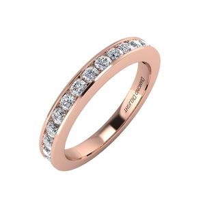 IGI Certified 14k Rose Gold Wedding/anniversary Diamond Band Ring (1/2 Carat)