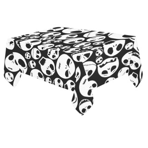 Unique Debora Custom Tablecloth Cover Cotton Linen Cloth Nightmare BeFore Christmas For Dining Room, Tea Table, Picnics, Parties DT-17