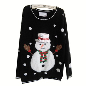 Annisking Womens Christmas Sweater Snowman Snowflake Jumper Pullover -8M01