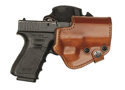 Front Line Three Layer Outside Waistband BFL Belt Gun Holster Brown Leather, Kydex, Suede Lining - H&K USP Compact Right