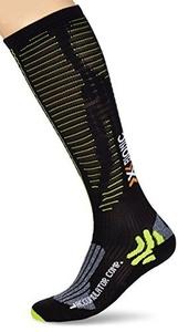 X Socks Mens Socks Accumulator Competition Multi-Coloured Black/Acid Green Size:43/46 M by X-Socks
