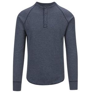 Save Khaki Men's L/S Pointelle Henley Shirt SK013-PT Navy SZ S