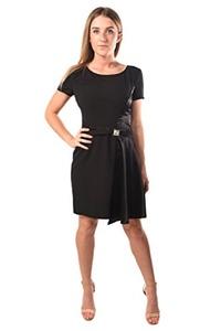 Versace Jeans Women Crepe Bark Dress Black