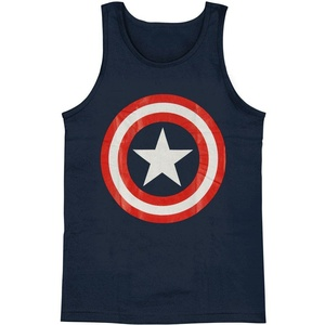 Captain America Men's 80's Captain Mens Tank X-Large Navy