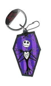Nightmare Before Christmas Jack Skellington Coffin Disney Enamel Key Chain by The Nightmare Before Christmas