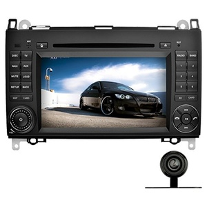 YINUO 7 inch Android 5.1.1 Lollipop Quad Core 2 Din Car Stereo HD 1024600 Capacitive Touch Screen Car Radio Receiver DVD GPS Navigation for Mercedes-Benz, External Mic+8GB Map Card+Backup Camera