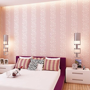 SBWYLT-Non-woven stripe wallpaper living room living room TV background wall paper large vertical , 10 meters *0.53 meters