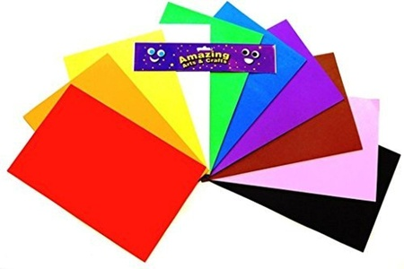 Craft Foam Sheets A4 10 Assorted Colours 10 sheets by Amazing Arts and Crafts
