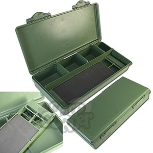 New NGT Green Carp & Coarse Fishing Tackle Box System With Hair Rig Board Inside by NGT