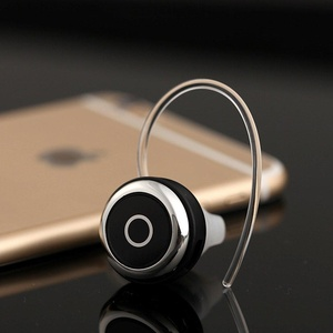 Wireless Fashion Stylish Mini Bluetooth 4.0 Earphone Stereo headphone earbuds earpods Handsfree Calling For Cell phones iPhone iPad Samsung Xiaomi Sony Lenovo HTC LG and Most Smartphones (Black)