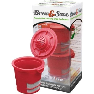 Brew & Save Reusable Filter, 2-Pack 40140, Red