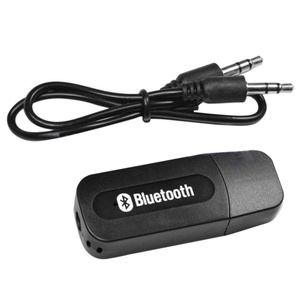 Topbeu Portalbe Mini 3.5mm USB Bluetooth Wireless Stereo Audio Music Speaker Receiver Adapter for Iphone and Android With 3.5mm Audio Cable
