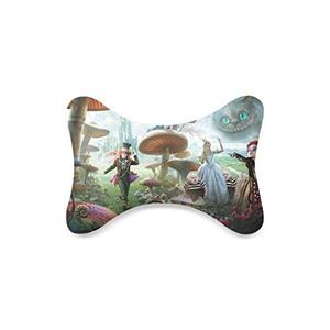 Fashion Custom Alice in Wonderland Bone Shape Car Seat Neck Rest Custom Car Neck Pillow/Cushion Head Support Neck Support Pillow