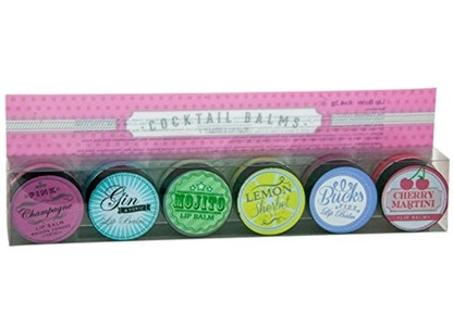New Cocktail & Champagne Flavoured Lip Balms Set of 6 Xmas