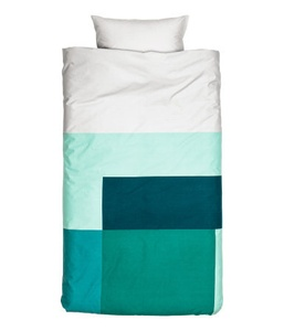 Color-Block Cotton Duvet Cover Set