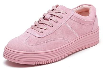 D2C Beauty Women's Lace-up Originals Flat Fashion Sneakers - White 6 M US