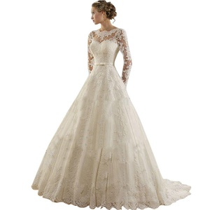 JoyVany Vintage Lace Princess Wedding Dress 2016 Cheap A Line Wedding Dress White Size 8